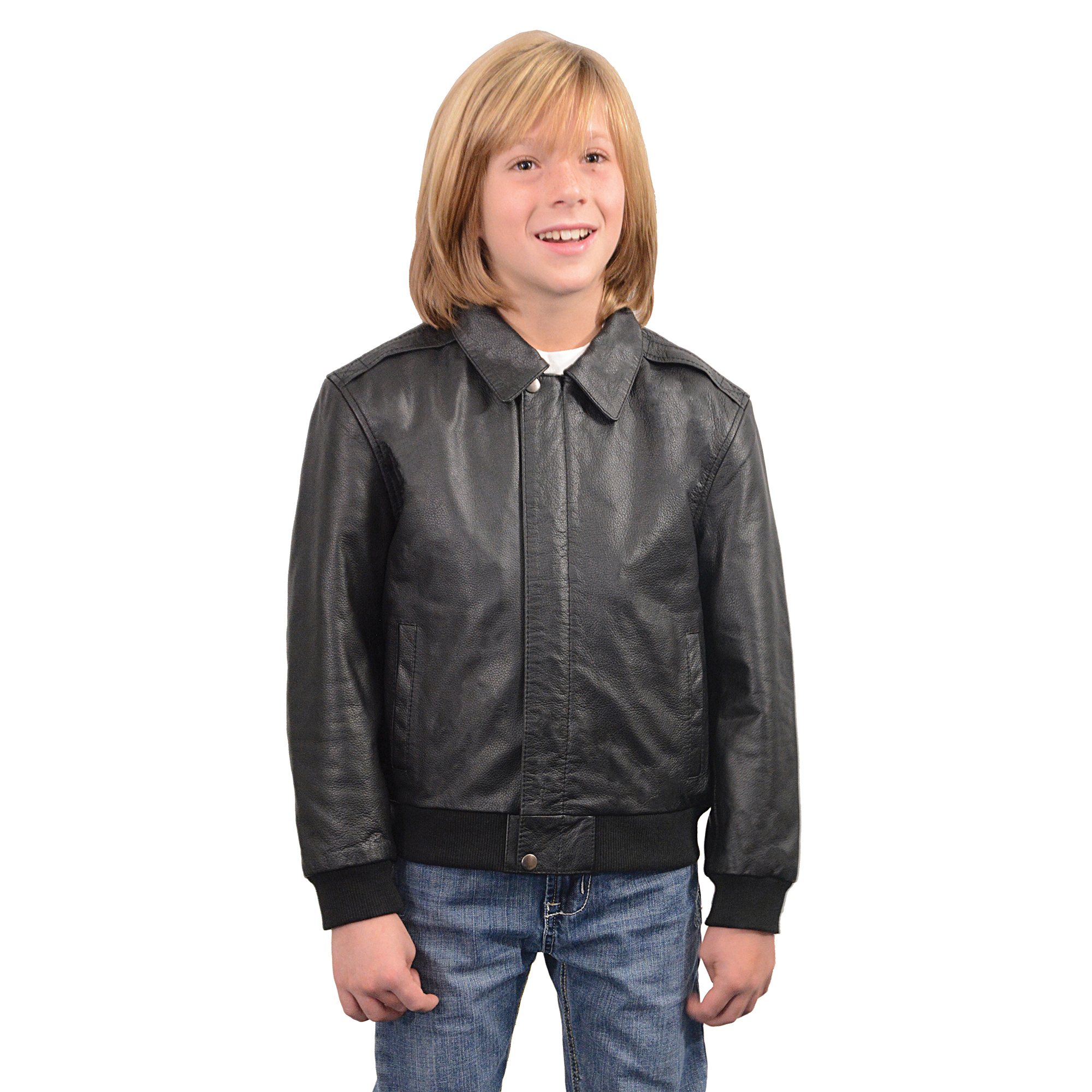 Toddler boy leather jacket
