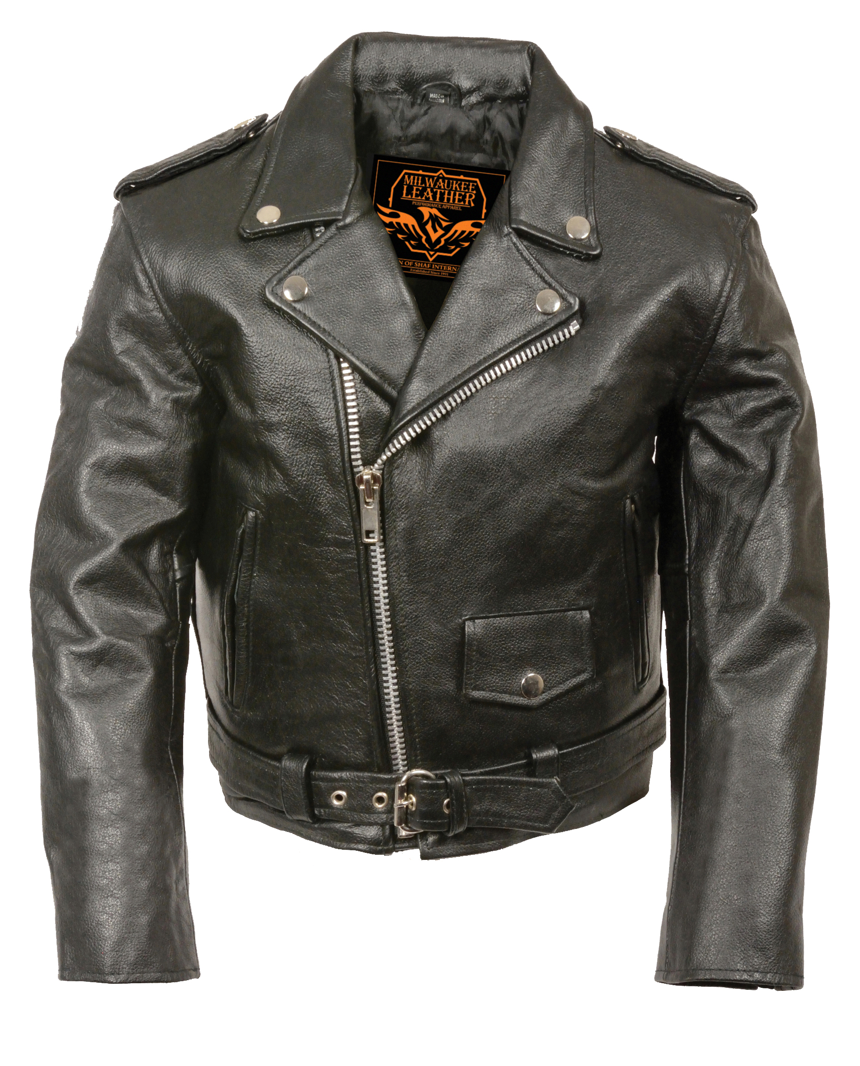Toddlers Traditional Style Motorcycle Jacket