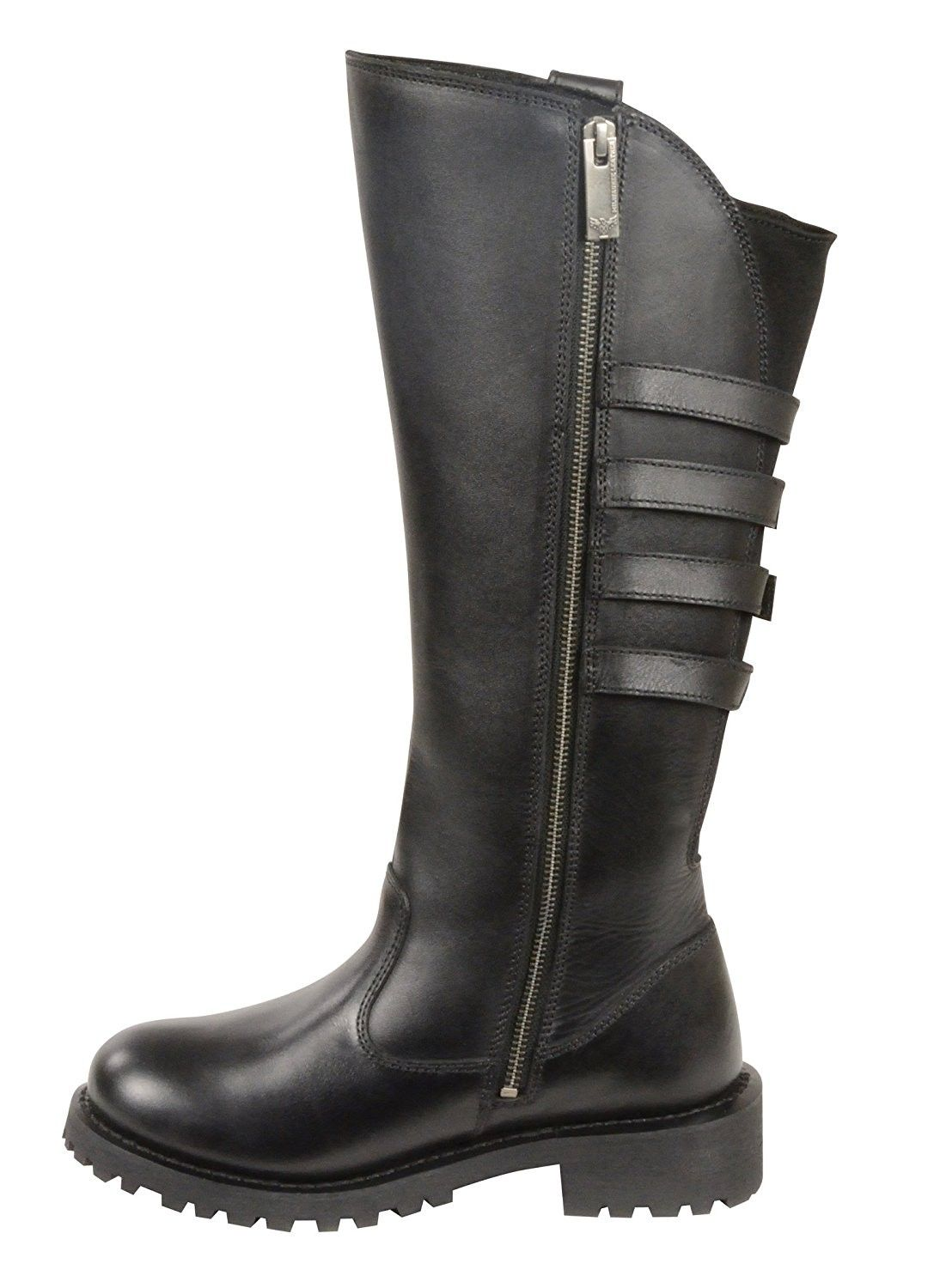 Oil Resistant Gloves >> Milwaukee Leather Women's Tall Boots with Buckle Detail
